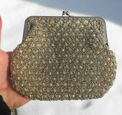 Vintage Silver Evening Clutch Bag Made by Delill Handmade in Italy $15.00