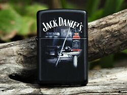 Zippo Lighter - Jack Daniels Pool Room - European - Old No. 7 Tennessee Whiskey