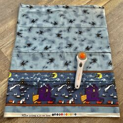 """Spooky Hollow Halloween Single Border for Jo ann Cotton Fabric 2 yards by 45"""""""