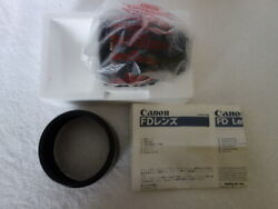 Unused Canon New Fd 85mm F/1.2 L Nfd Telephoto Portrait Lens From Japan