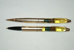 Vintage Ballpoint Pen And Pencil Featuring Floating Smokey The Bear - Very Rare