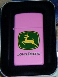 Rare John Deere Pink Zippo Lighter New Mint In Box Only Made For Limited Time