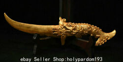 10.8 Museum Collect 19th Century Chinese Copper Gilt Dynasty Dragon Dagger