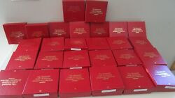 Hummel Gold Christmas Ornament Collection Collector Club Set 27 Boxed Brochures