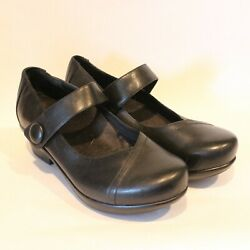 Abeo 24/7 Cate Black Leather Mary Jane Comfort Low Heels Shoes Womens 7.5