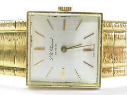 Chopard 18kt Vintage Solid Yellow Gold Watch 6.75 20mm X 20mm