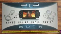 Sony Psp Video Game Store Display Category Promo Sign 2005 Playstation Portable