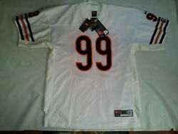 Vintage Nwt Nike Pro Line Authentic Chicago Bears 99 Flanigan Football Jersey 48