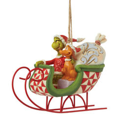 Jim Shore And Max In Sleigh Christmas Ornaments 6008895