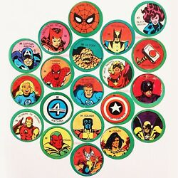 1980 Marvel Lot Of 20 Trading Cards From Captain America Rare Vintage