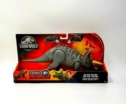 Jurassic World Dino Rivals Dual Attack Triceratops Gray Collectable Toy Gfg78