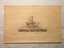 1 Large Rare Wine Wood Panel Château Beychevelle Vintage Crate Box Side 8/21 275