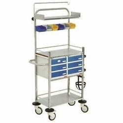 Metal Crash Cart Trolley Medical And Lab Equipment Devices