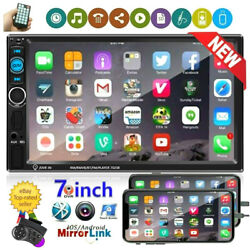 7 2 Din Car Stereo Radio Bluetooth Double Usb Fm Aux In Ios/android Mirror Link