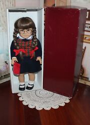 American Girl Doll White Body Pc Molly In Box, West Germany 1986 Tag, Vgc