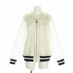Auth P58260 Clear White Polyamide Cotton Womens Lightweight Jacket 50