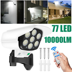 600w Led Solar Wall Light Motion Sensor Outdoor Security Street Lamp + Remote Us