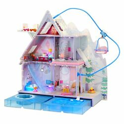 Lol Surprise Omg Winter Chill Cabin Wooden Doll House Distressed Pkg