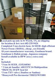 Goodman 3 Ton 16 Seer High Efficient Completed R410a Electric Heat Pickup Only