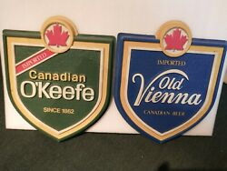 Lot Of 2 Antique Vintage Imported O'keefe And Old Vienna Beer Wall Signs