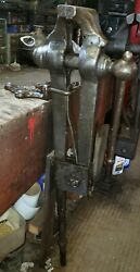 Blacksmith Post Vise 6 Jaw Columbian. Serviced And Ready To Use. See Videonice