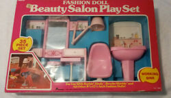 Arco Beauty Salon Play Set Complete 1983 Toy 7689 For Vintage Doll Barbie Sindy