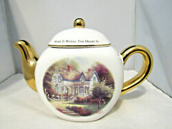 Thomas Kinkade Teapot Home Is Where The Heart Is Retired By Painter Of Light