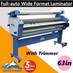 63 Full - Auto Roll Large Format Cold Laminator Machine Heat Assisted + Trimmer