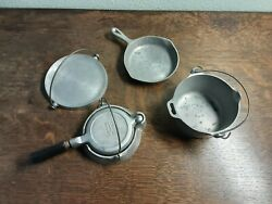 Vintage Super Maid Cookware Authentic Toy Cookware Complete Set