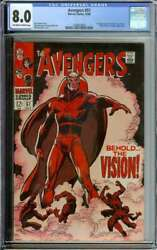 Avengers 57 Cgc 8.0 Ow/wh Pages // 1st Silver Age Appearance Of Vision 1968