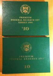 1995 And 1999 10 Federal Reserve Sets 24 Notes All With Same Serial 99999570