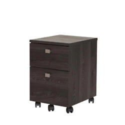 File Cabinet 11-15 In. Capacity 2- Drawer 4-caster Contemporary Wood/metal Gray