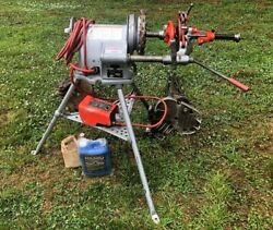 Ridgid 300 Power Pipe Threader 15682 W Ridgid Accessories And Oil - Excellent Cond