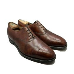 John Lobb City Oxford Brown Leather Men's Shoes Size 12 Us Brown Oxford Ave