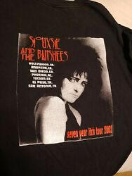 Siouxsie And The Banshees Vintage T Shirt Size Xl Seven Year Itch Tour 2002