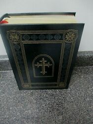 Nm Easton Press Genuine Leather Bound - Kjv Holy Study Bible W/supplements F/s