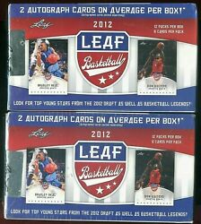 2-2012 Leaf Draft Basketball Factory-sealed Blaster Boxes,24-packs4-autos