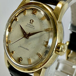 Omega Seamaster 1980and039s Vintage Wristwatch Menand039s Gold Plated Automatic 38mm