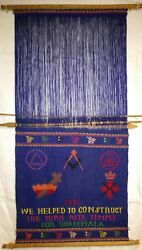 Vtg Rare Scroll 1976 We Helped To Construct The York Rite Temple For Guatemala
