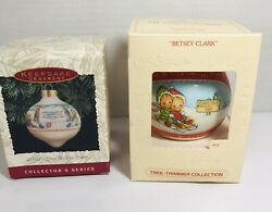 Hallmark Betsy Clark Glass Ball 1980 And 2 In Series 1993