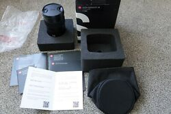 Leica S 35mm Asph S Summarit F2.5 Lens New Motor Almost Mint If Knit Pickg Boxed