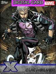 Topps Marvel Collect X-men Weekly Quicksilver Silver Digital Card