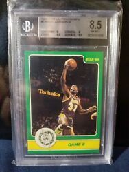 Magic Johnson Rookie Rare Star Playoff In Actuon Bgs 8.5 Lakers Nba Legend Hof
