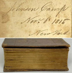 1812 Bible Of Johnson Camp Born 1794 Great Grandfather Of Madeleine L'engle