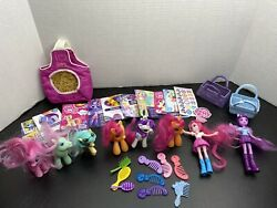 Lot Of Mlp My Little Pony Figures And Dolls With Cards Combs Brushes Unicorn