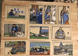 Georges Geo-fourrier Vintage Post Cards Original 9 Post Cards Beautiful