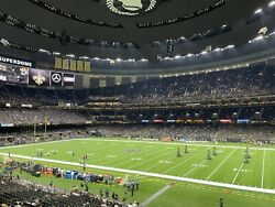 3 X New Orleans Saints Vs Carolina Panthers Tickets Loge Club - Section 257.
