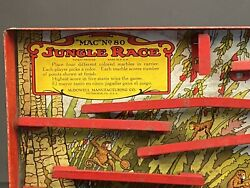 Antique 1920s-1930s Jungle Race Marble Game By Mcdowell Manu. Pittsburgh Pa