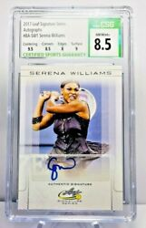 2017 Leaf Serena Williams Autograph Card And Matching 1/1 Printing Plate Auto