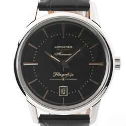 Wristwatch Longines Flagship Heritage L4.795.4.58.0 Menand039s Used Silver Black